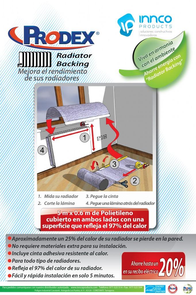 Kit aislante para mejorar el rendimiento de sus radiadores.